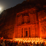 One of the elaborate temples in the Red rose city of Petra – Jordan, is the Al Khazneh